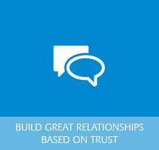Logo for Building Great Relationships Built on Trust